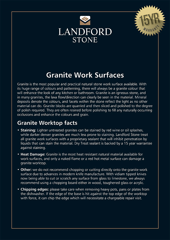 18381 Granite Work Surfaces A4 Sign.indd