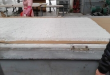 the mould removed and the material manually smoothed out before covering....jpg
