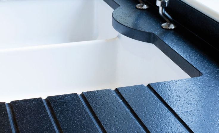 kitchen worktops with sink cutout draining grooves 1