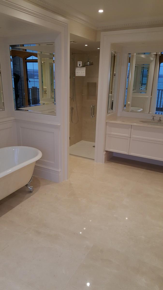 Crema Marfil marble stone bathroom 3