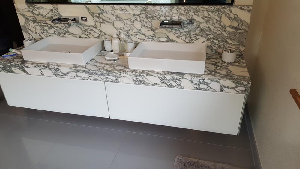 Dorset Home, Arabescato Marble Vanity top