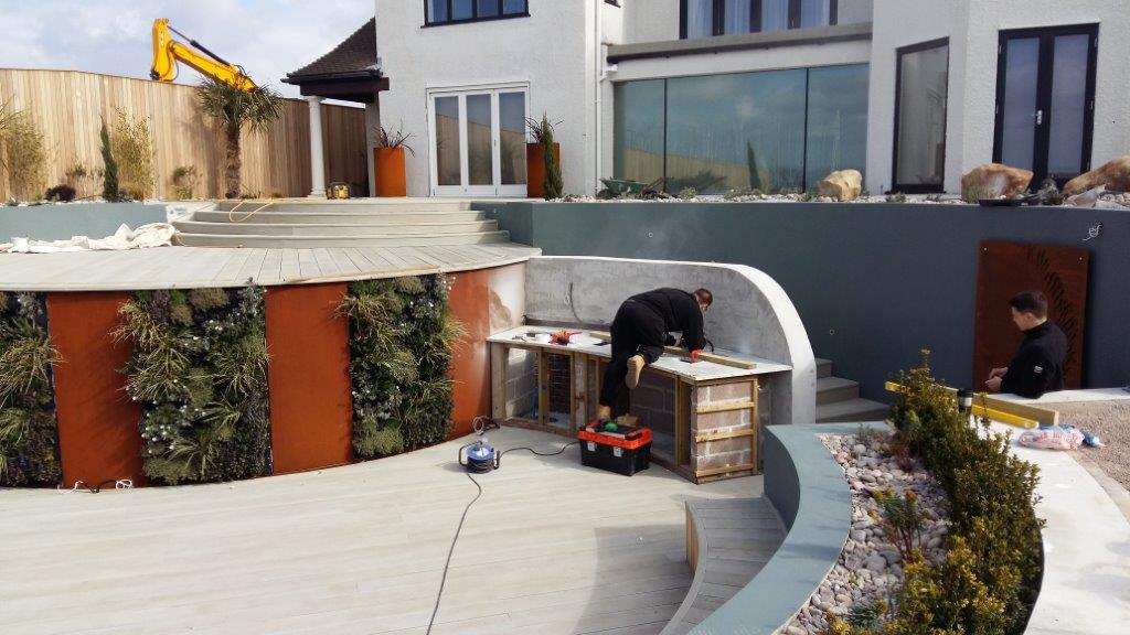 granite worktops bbq install 1