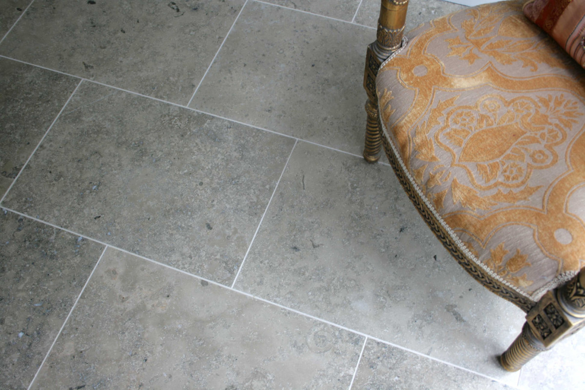 stigler grey honed limestone flooring