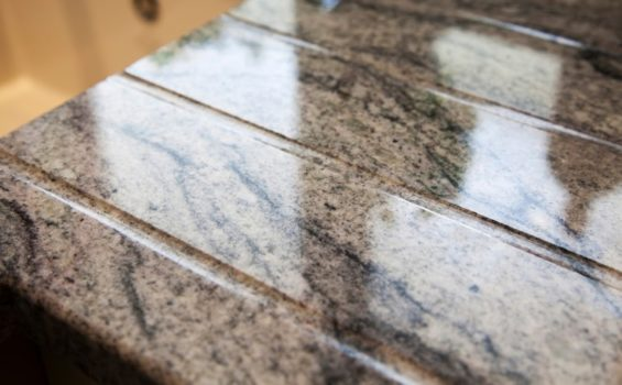 kinawa white granite kitchen worktops draining grooves 1