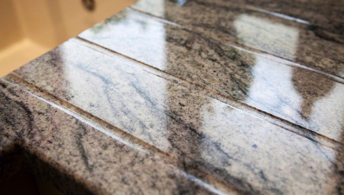 kinawa white granite kitchen worktops draining grooves 1