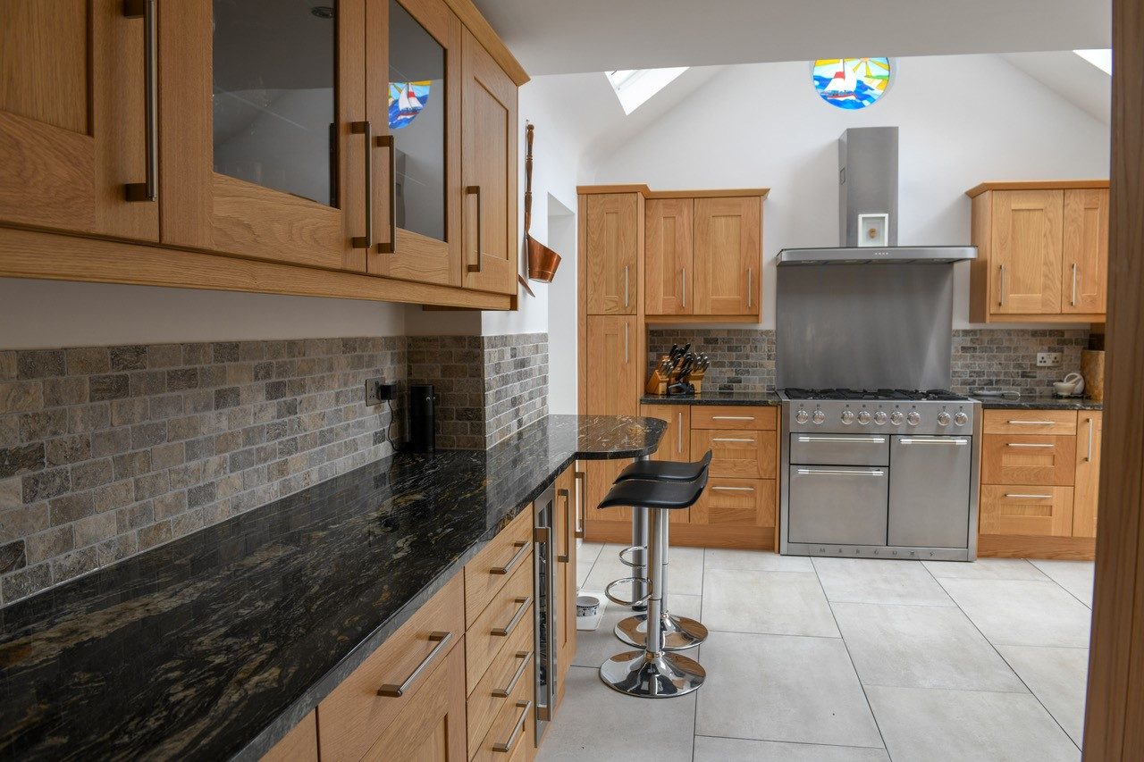 black cosmic granite kitchen worktops 1