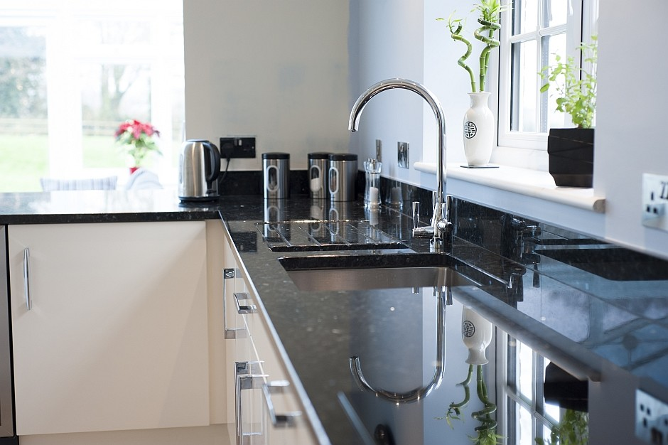 polished black granite kitchen worktops 1
