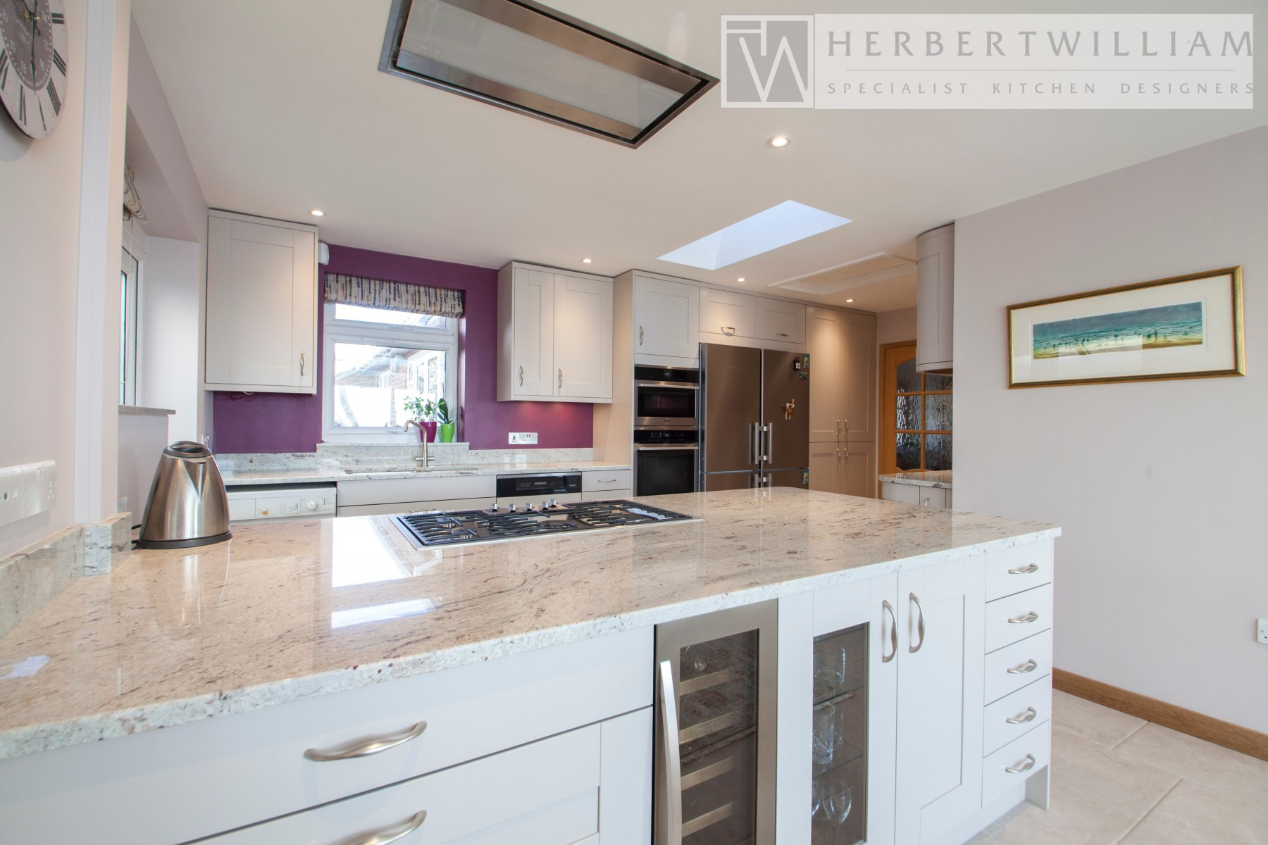 river valley white granite kitchen worktops 1